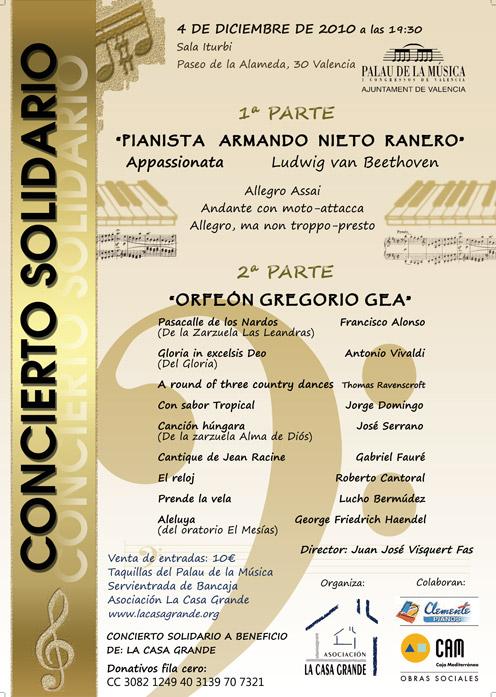 Cartel Concierto La Casa Grande 2010